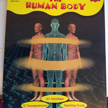The Human Body Anatomy book grades 5-9 science 1986 vintage home school educational work books skeleton brain
