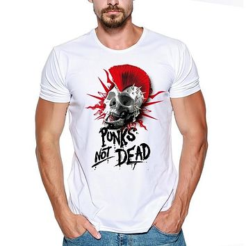 SHIRT THE EXPLOITED Punk Rock Band T-shirts Band Men T Shirts 3d Printed skull Tops punks not dead