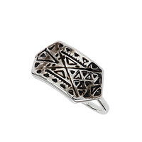 Engraved Plaque Midi Ring - Jewelry - Bags & Accessories - Topshop USA