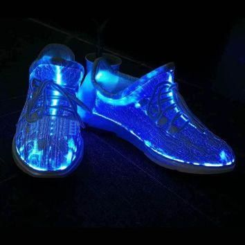 LED Luminous Running Shoes Unisex Sneakers Lace Shoes Colorful Glowing Shoes for Party
