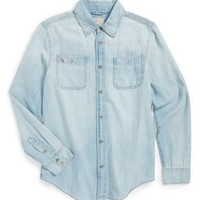 Boy's Ralph Lauren Long Sleeve Denim Shirt,