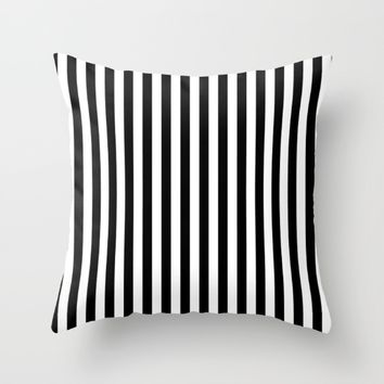 #17 Lines Throw Pillow by Minimalist Forms