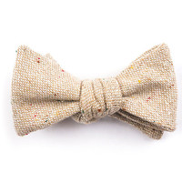 Solid Beige Bow Tie