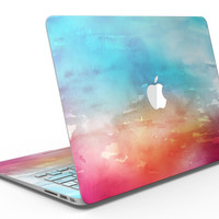 Turquoise to Pink Absorbed Watercolor Texture - MacBook Air Skin Kit
