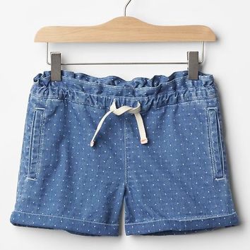 Gap Girls Gapkids X ED Dobby Paperbag Waist Shorts