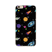 Spaceships and Aliens Whimsy Case for iPhone