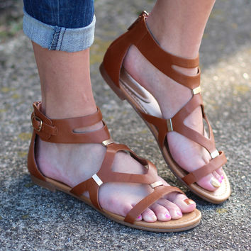 Ruby Gladiator Sandals {Tan}