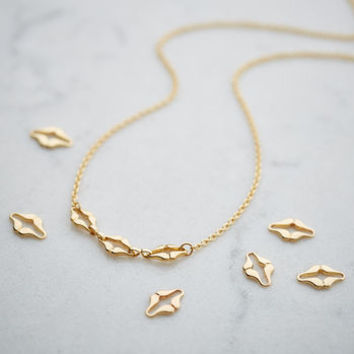 personalised 'kisses' necklace by cinderela b jewellery | notonthehighstreet.com