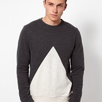 ASOS Sweatshirt With Triangle Insert at asos.com