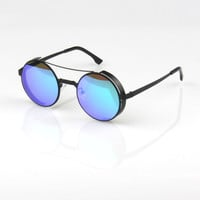 Stylish Vintage Strong Character Glasses Mirror Sunglasses [6592751555]