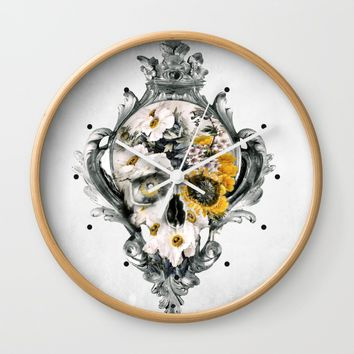 Skull Still Life Wall Clock by RIZA PEKER