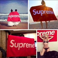 """Supreme"" Stylish Letter Logo Print Lovely Ultra-Fine Fiber Bath Towel Letter Beach Towel Blanket Towel(8-Style)"