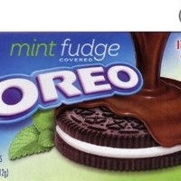 Oreo Mint Fudge Covered Chocolate Sandwich Cookies Limited Edition 7.5 Oz (Pack of 2)