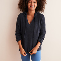 Aerie Plush Hoodie Sweater, Night Sea