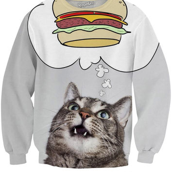 Burger Cat Sweatshirt