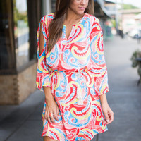 Pretty Savvy Dress, Dark Coral