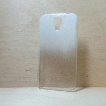 Samsung Galaxy S4 3D Water Droplets Hard Plastic Case - White