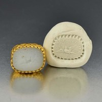 Antique French Gold Engraved Wax Seal Fob Pendant