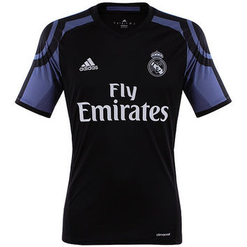 Real Madrid third jersey 2016 2017 with official prints for Ronaldo, James and Bale
