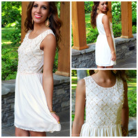 SZ LARGE Florence Pearl Embellished Dress