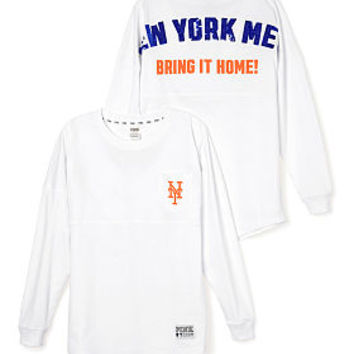 New York Mets Bling Varsity Crew - PINK - Victoria's Secret