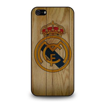 REAL MADRID FC WOODEN iPhone 5 / 5S / SE Case Cover