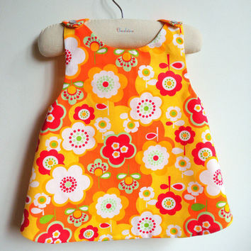 The Baba Cool Reversible Pinafore top or dress - French Style - 6 months to 5Y