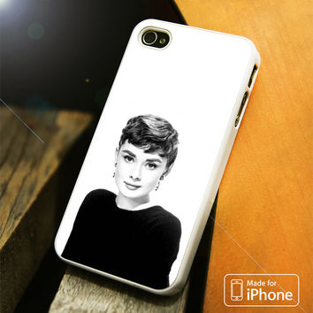 Audrey Hepburn BW iPhone 4(S),5(S),5C,SE,6(S),6(S) Plus Case