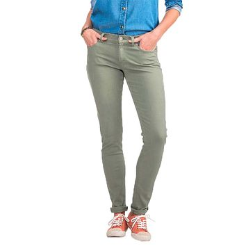 Resort Colored Skinny Jeans in Seagrass Green by Southern Tide