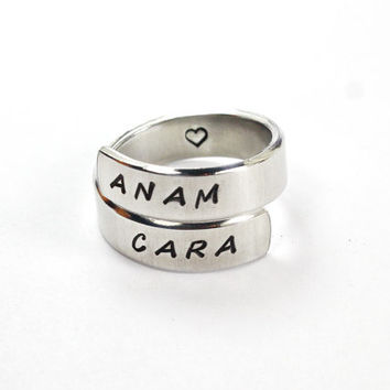 Anam Cara Spiral Ring, Celtic Friendship Ring, Anam Cara Means Soul Friend