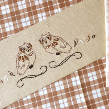 Owl hand embroidery pattern PDF for beginner outline modern NaiveNeedle