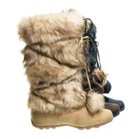 Tara by Blossom, Mukluk Wrap Around Mid Calf Faux Fur Boots , Women Winter Snow Boot