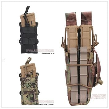 2016 NEW EMERSON Double Modular Rifle Magazine Pouch Airsoft hunting Utility MOLLE MAG Digital desert EM6035