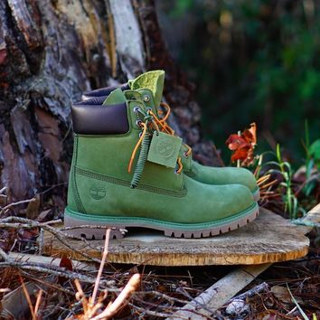 GE AUGUAU Timberland 6  PRM MD  Military Green