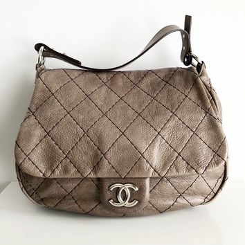Authentic CHANEL On The Road Flap Bag