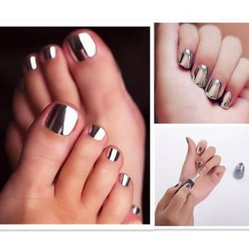 Trendy Metallic Shiny Mirror Effect Nail Polish Variety Colors