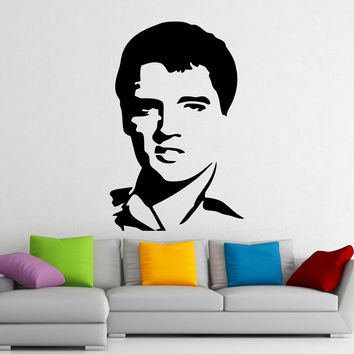 Elvis Presley Stickers Music Wall Vinyl Decals Home Interior Murals Art Decoration Made in US