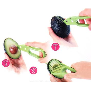 3-in-1 Avocado Slicer Multi-functional Fruit Cutter Knife Corer Pulp Separator Shea Butter Knife Kitchen Gadgets