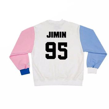 Bangtan boys kpop unisex autumn women hoodies sweatshirts casual couple clothes 2017 pullover letter print loose jumper svitshot