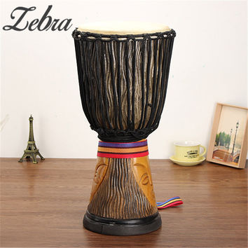 10 Inch Mahogany Body African Djembe Percussion Hand Drum