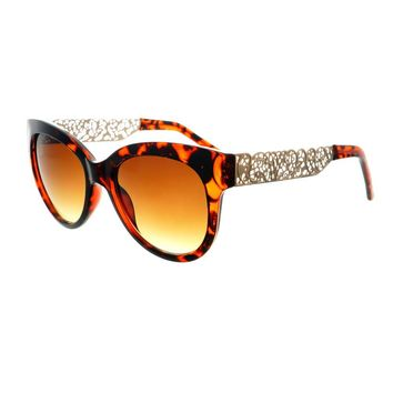 Unique Metal Arms Fashion Designer Retro Womens Cat Eye Sunglasses C1240