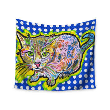 """Rebecca Fischer """"Abraham"""" Blue Yellow Wall Tapestry"""