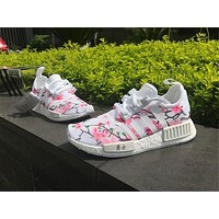 Adidas Originals NMD FOG white Cherry blossom Basketball Shoes 36-45