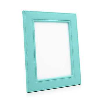 Tiffany & Co. - Rectangular frame in Tiffany Blue® leather.