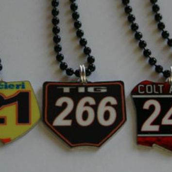 Motocross Front Number Plate Pendant