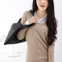 Winter Woolen Simple Comfy Stretchy Sweater 6 Colors