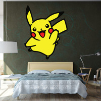 Pikachu Wall Decal - Vinyl Pokemon Wall Decal - Kids Decor - Girls or Boys Room Decoration