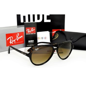 Ray Ban RB 4125 Cats 5000 710/51 Tortoise Brown Gradient Sunglasses