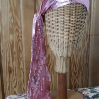 Ladies vintage sequin scarf candy pink boho hippie accessories peasant womens clothing bandanna festival Dolly Topsy vintage Etsy UK