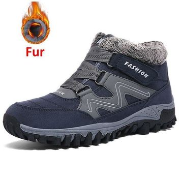New Men Boots Winter With Plush Warm Snow Boots Casual Men Winter Boots Work Shoes Men Footwear Fashion Ankle Boots 39-46